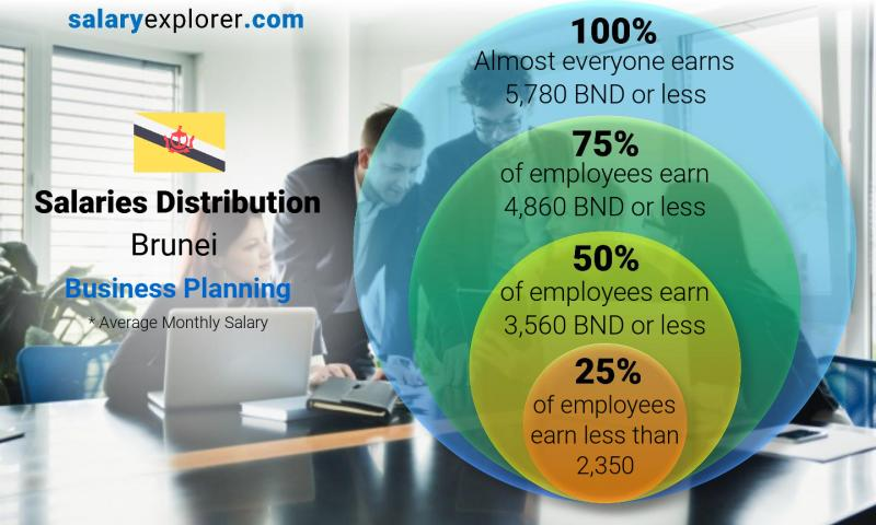 Median and salary distribution monthly Brunei Business Planning