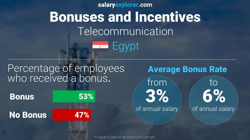 Annual Salary Bonus Rate Egypt Telecommunication