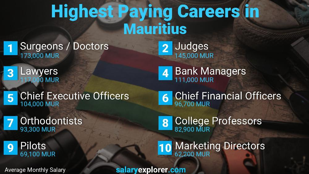 Highest Paying Jobs In Mauritius