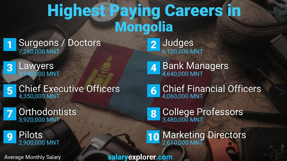 Highest Paying Jobs In Mongolia