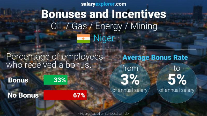 Annual Salary Bonus Rate Niger Oil  / Gas / Energy / Mining