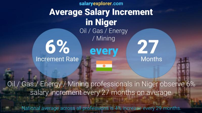 Annual Salary Increment Rate Niger Oil  / Gas / Energy / Mining