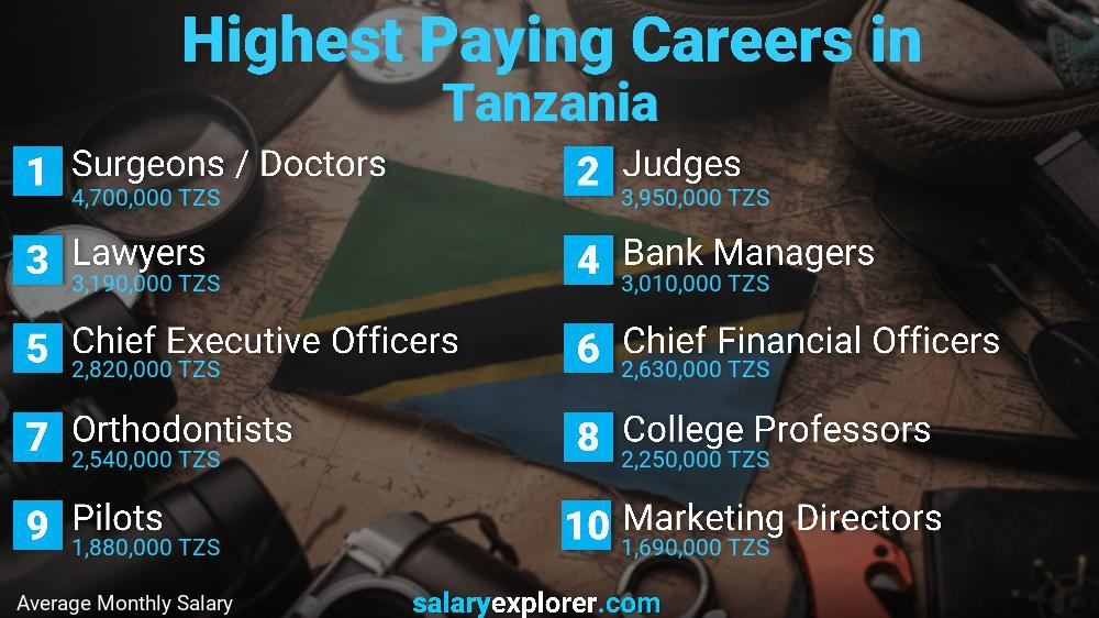 Highest Paying Jobs In Tanzania