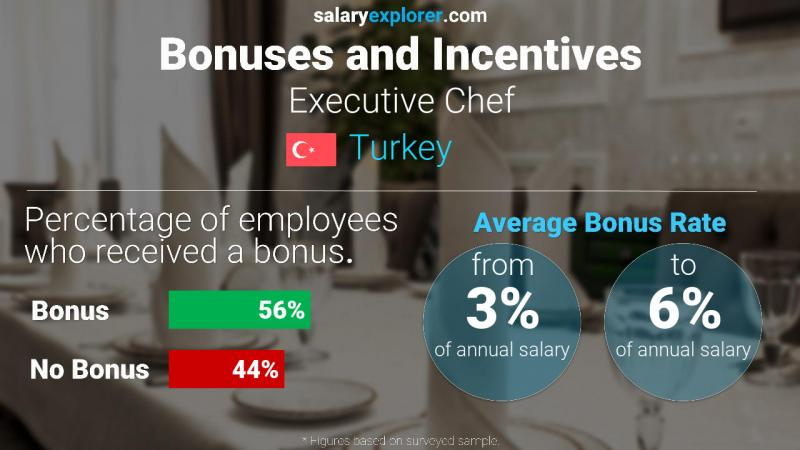 Annual Salary Bonus Rate Turkey Executive Chef