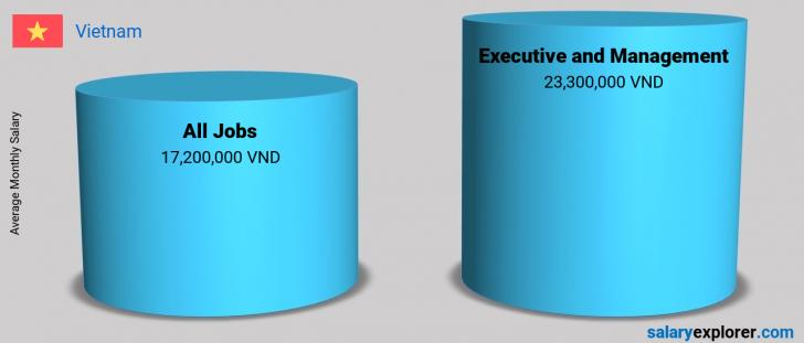 Salary Comparison Between Executive and Management and Executive and Management monthly Vietnam