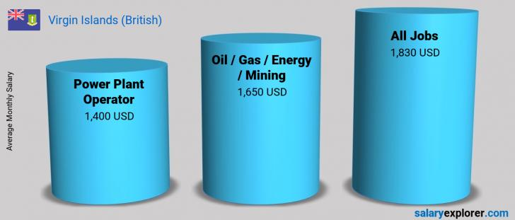 Salary Comparison Between Power Plant Operator and Oil  / Gas / Energy / Mining monthly Virgin Islands (British)