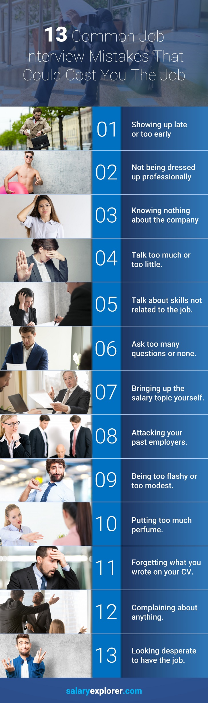 13 Deadly Job Interview Mistakes That You Should Never Make