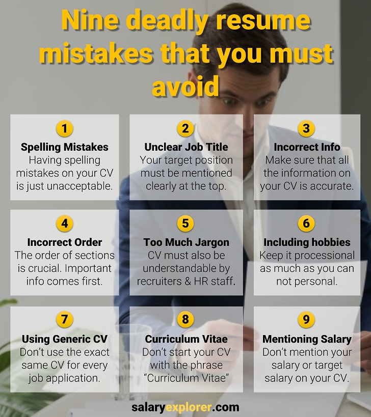 9 Deadly Resume Mistakes That You Should Avoid